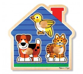 Puzzle a gros boutons animaux domestiques
