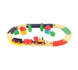 Train en bois 21pcs |  82274  | Boutique Nounou
