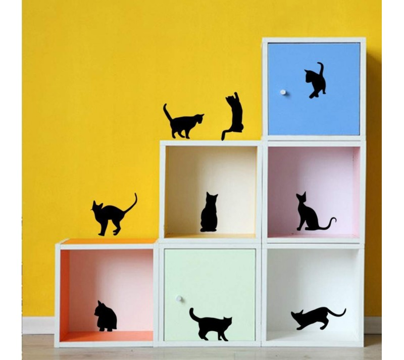 Stickers de décoration chat |  Sti29  | Boutique Nounou