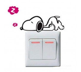 Stickers pour interrupteur Snoopy