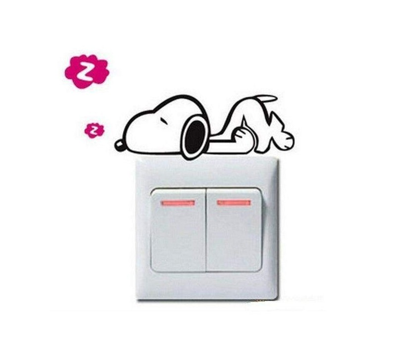 Stickers pour interrupteur Snoopy |  Sti40  | Boutique Nounou