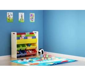 Storage cabinet for toys and books